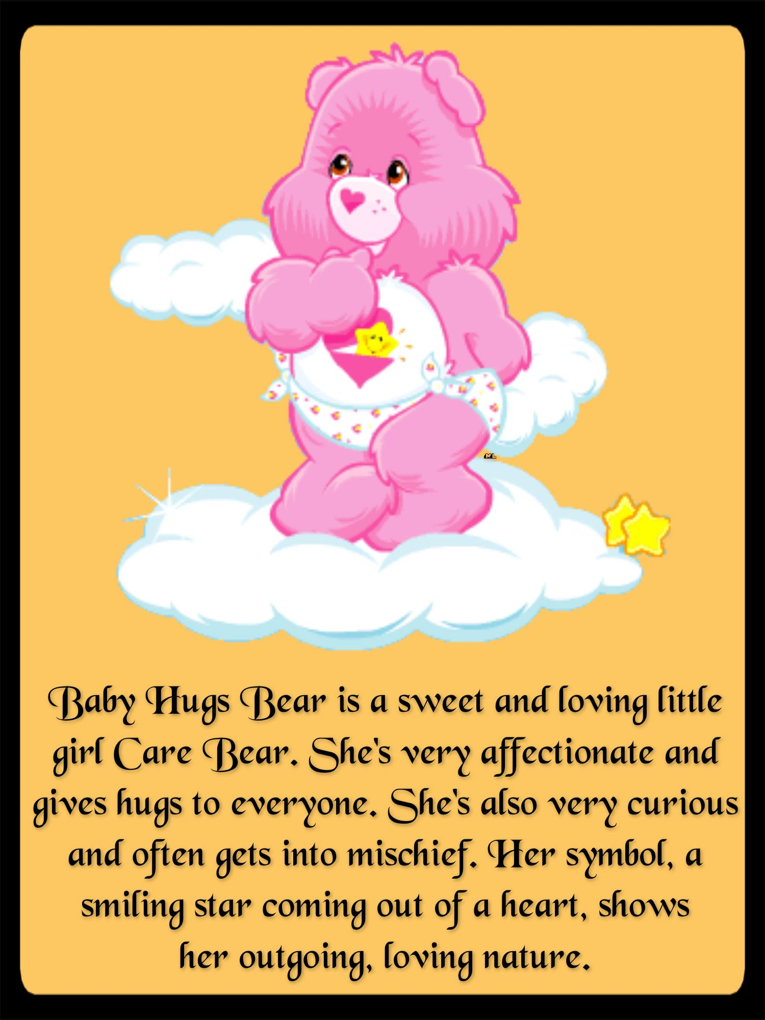 Baby Hugs Bear Is A Sweet And Loving Little Girl Care Bear