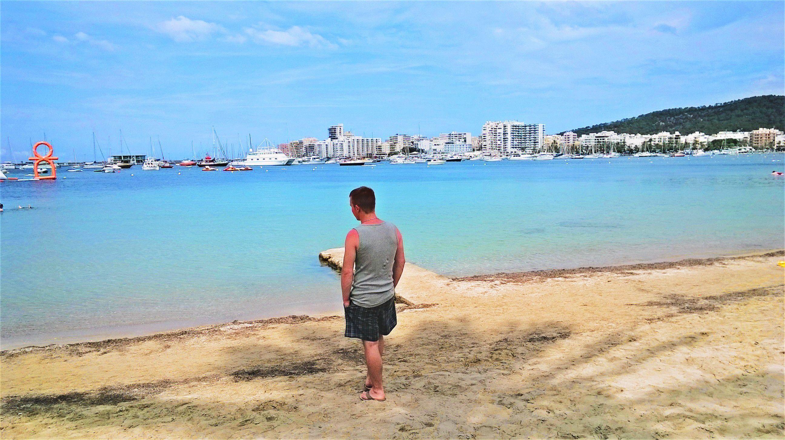 My boy just watching the beautyfull sea #ibiza