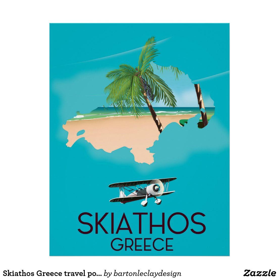 Skiathos Greece Travel Poster Zazzle Com In 2020 Greece Travel Skiathos Greece Travel Posters