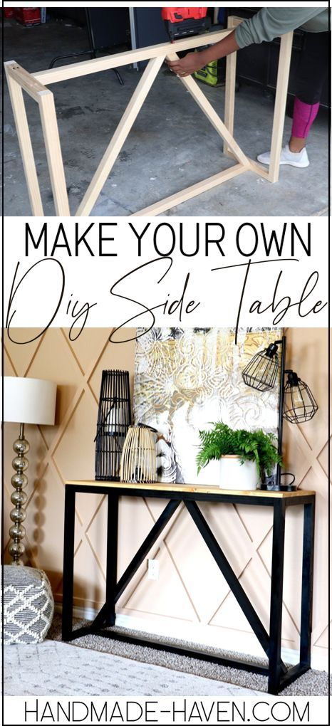 How To build a DIY Console for your home entryway. #console #diy