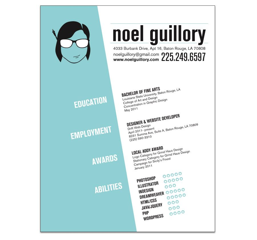 Graphic Design Resume  Google Search  Digital Design Inspiration