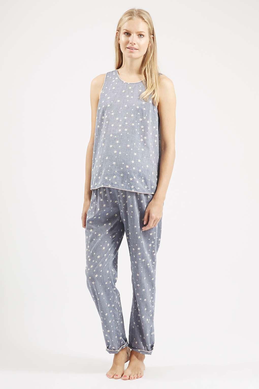 MATERNITY Star Print Chambray Pyjama Set