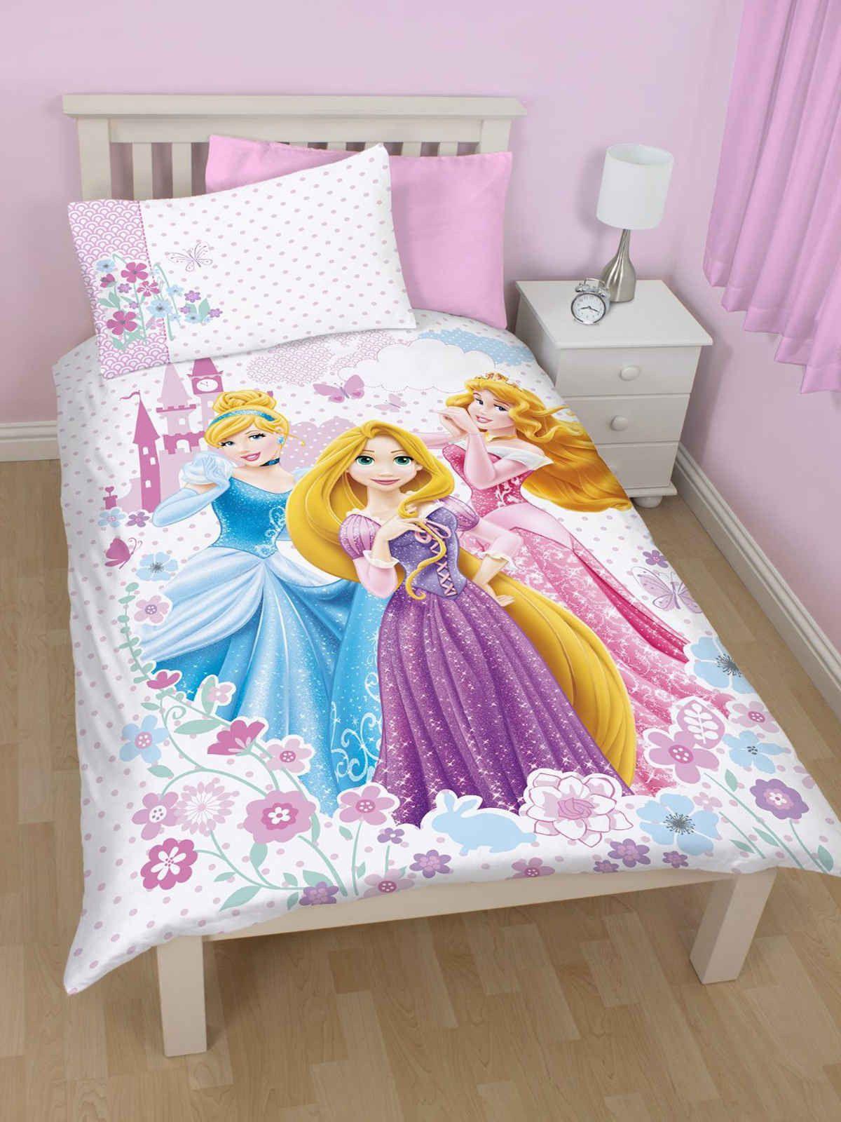 Disney Princess Magic Single Duvet Cover and Pillowcase Set Texco Direct