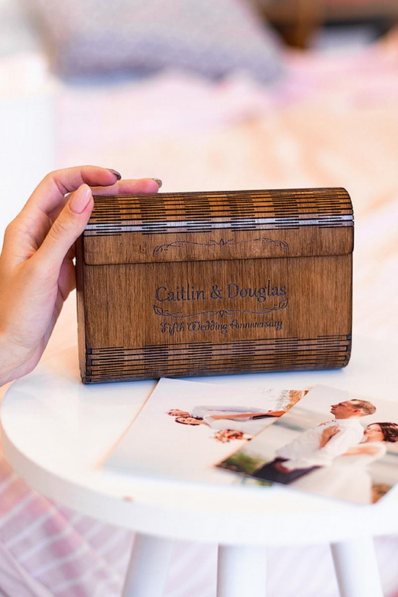 beautiful wooden photo box wedding photo storage box