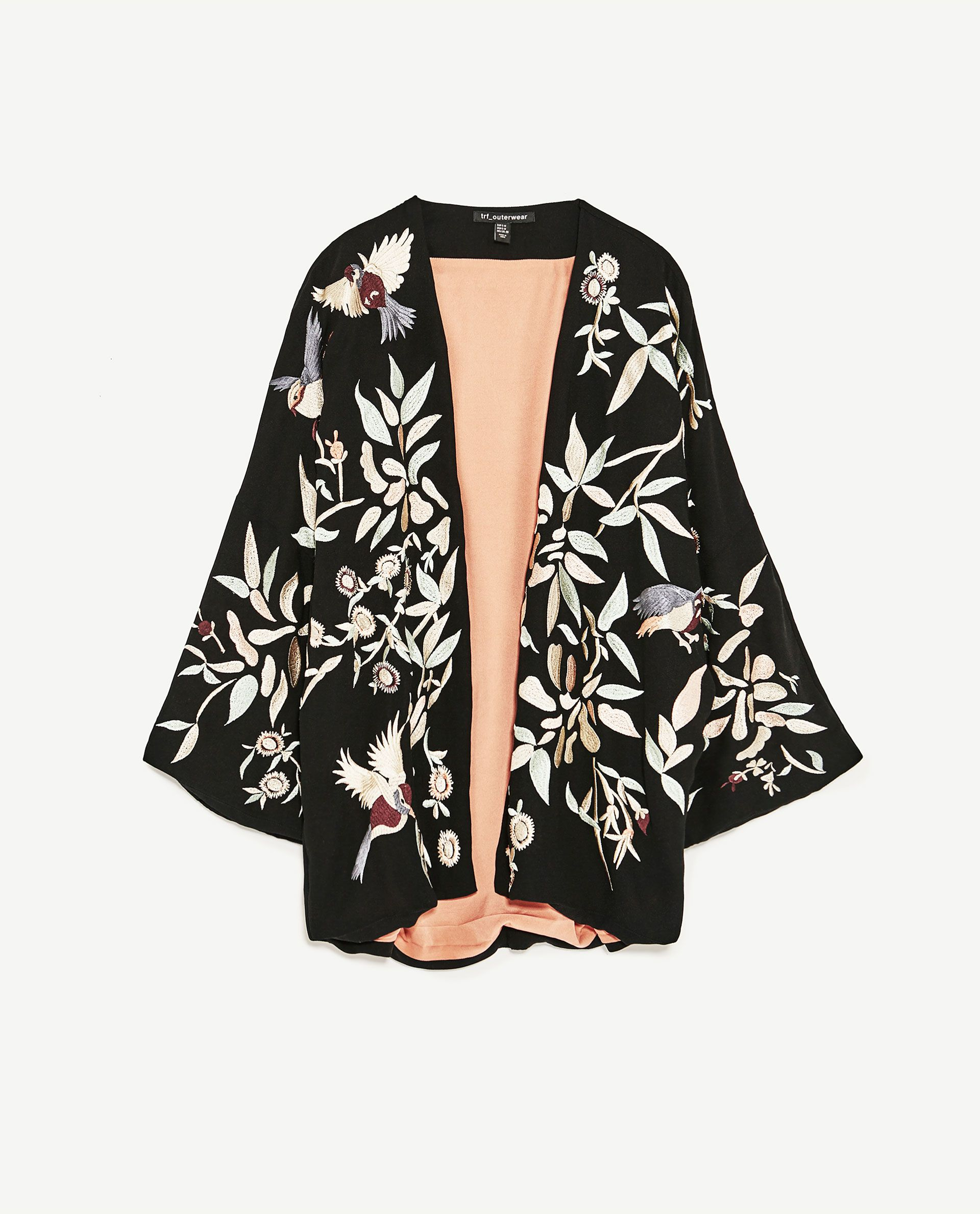 Image 8 of EMBROIDERED KIMONO JACKET from Zara | ideas for 2017 ...