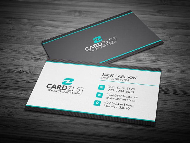 Professionelle Visitenkarten Design Vorlagen Kostenlos