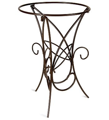 Elegant Scrollwork Bird Bath Stand 46 18 H X 12 5 W Perfect For Holding A Birdbath Up To Diameter Wrought Iron And Powder Coated In Black