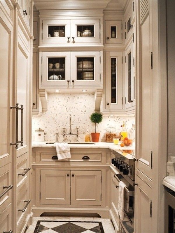 Kitchen The Idea Of A Small Galley Kitchen With Beautiful ...