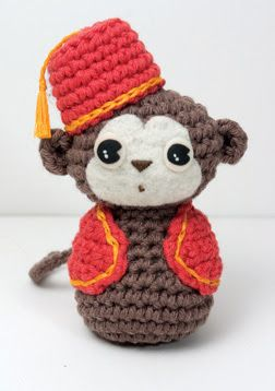 """Curly Girl's Crochet Etc.:   """"This little amigurumi monkey captured my heart. I think his face is so sweet! Get the pattern here."""""""