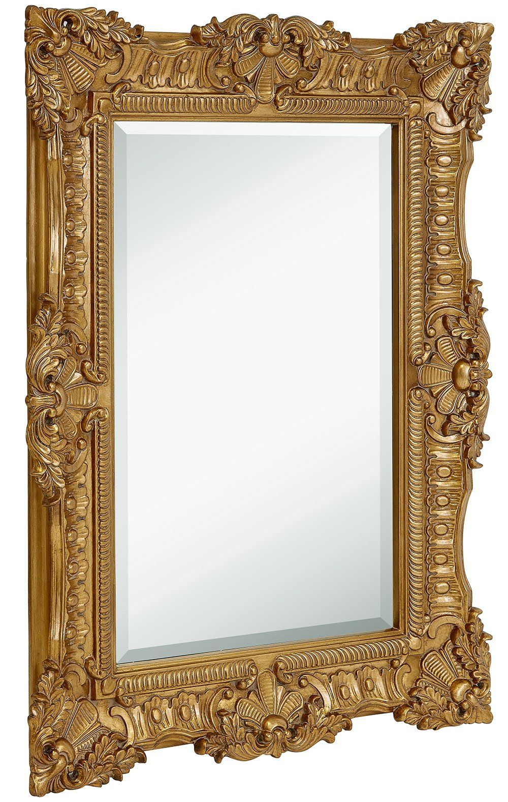 Large Ornate Gold Baroque Frame Mirror | Aged Luxury | Elegant ...