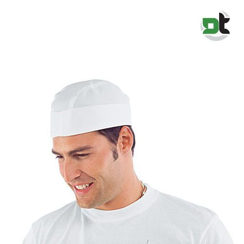 CAPPELLO BUSTINA REGOLABILE SENZA RETE ISACCO pizzaiolo chef cuoco copricapo 0c554c753dc8