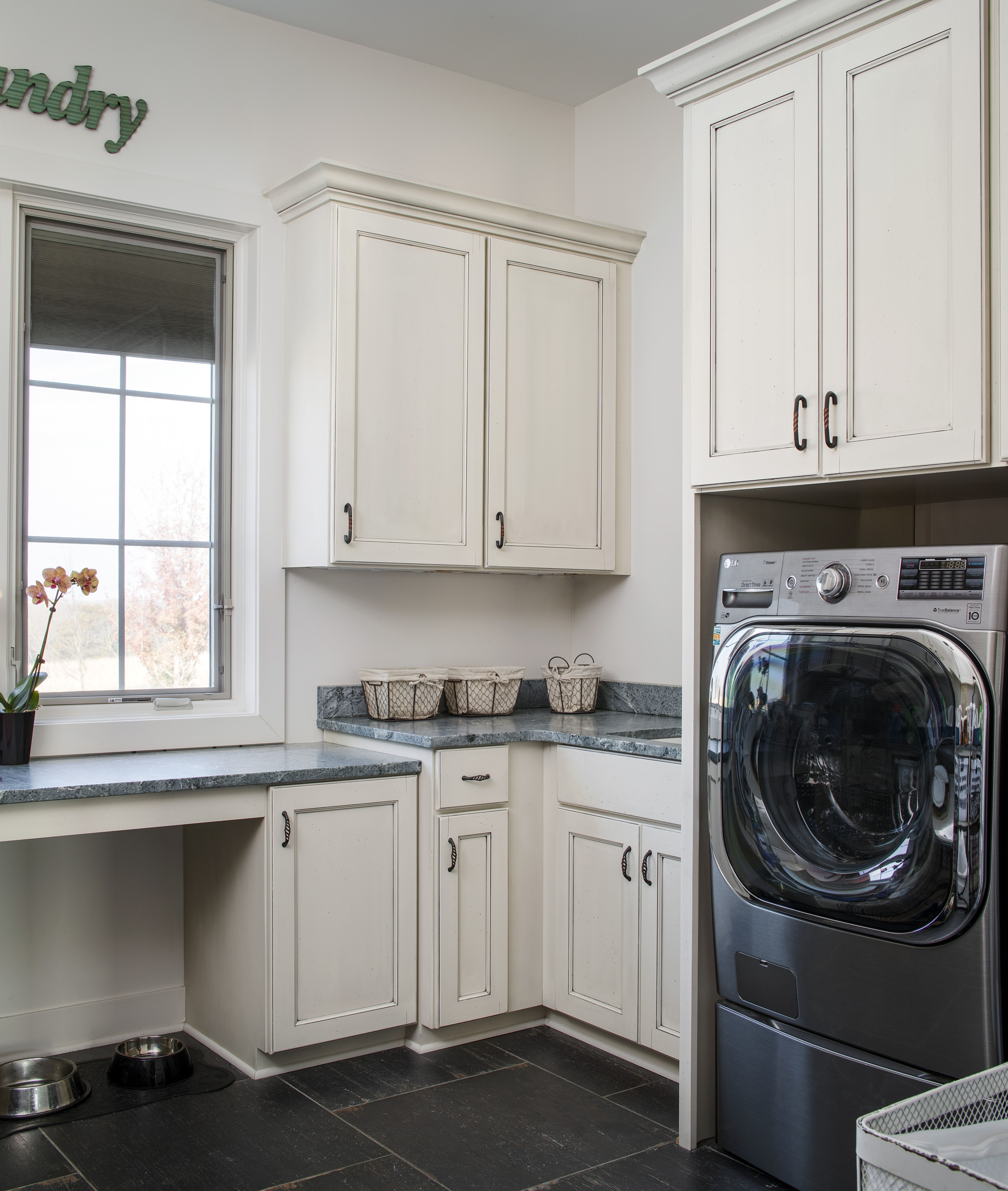 Laundry Room Remodel With Added Cabinets For Storage And Counter Space For Folding Laundry Room Remodel Quality Kitchen Cabinets Room Remodeling