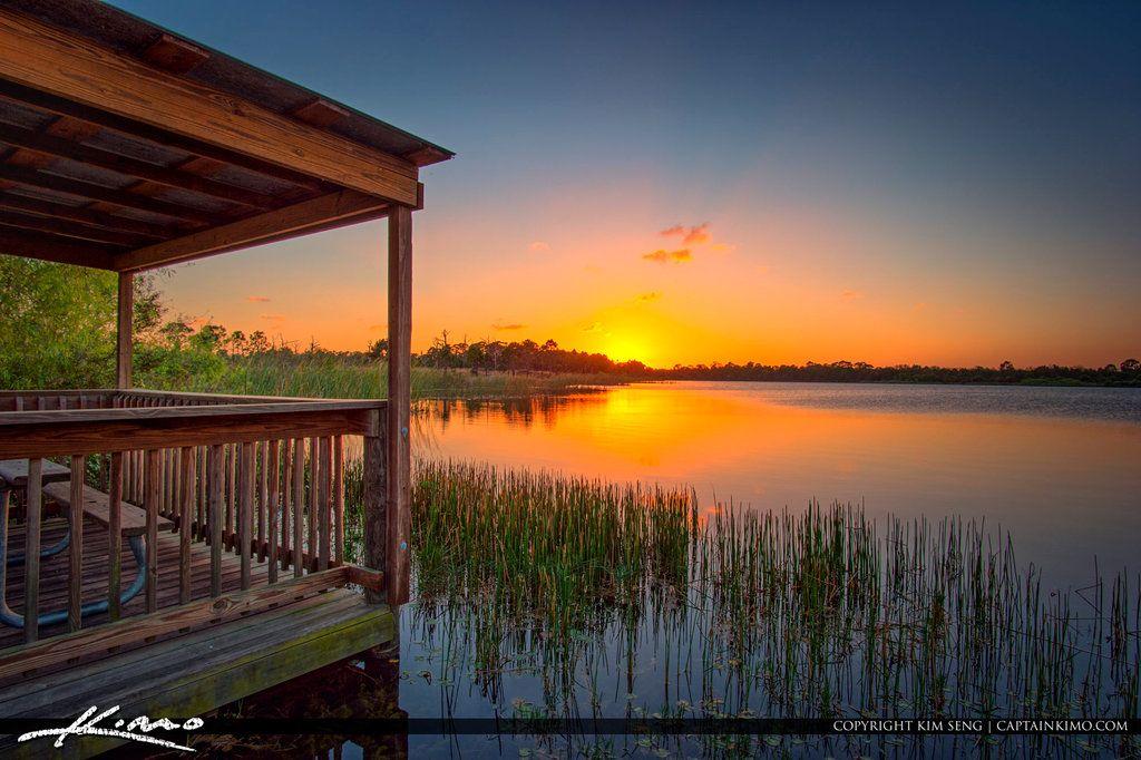 sunset_over_george_lestrange_preserve_fort_pierce by CaptainKimo