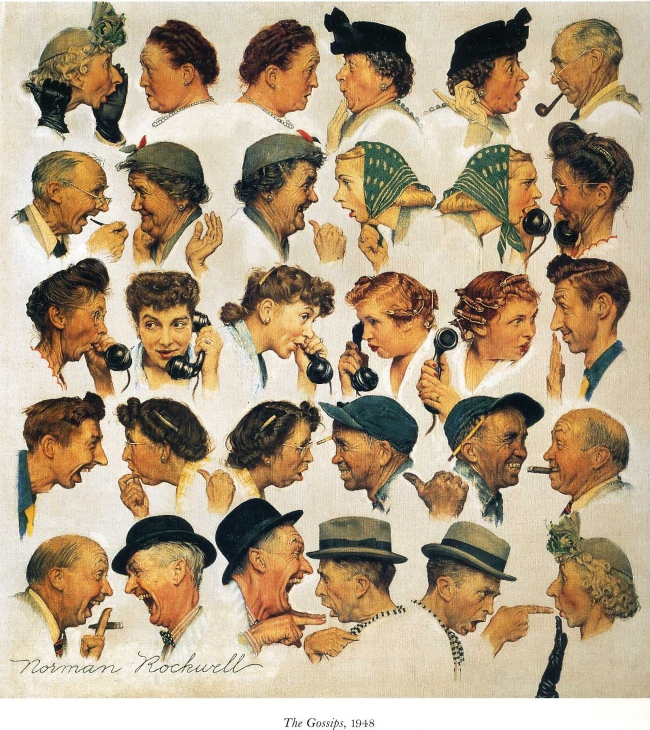 The Gossips, 1948 by Norman Rockwell | Products I Love artistic ...