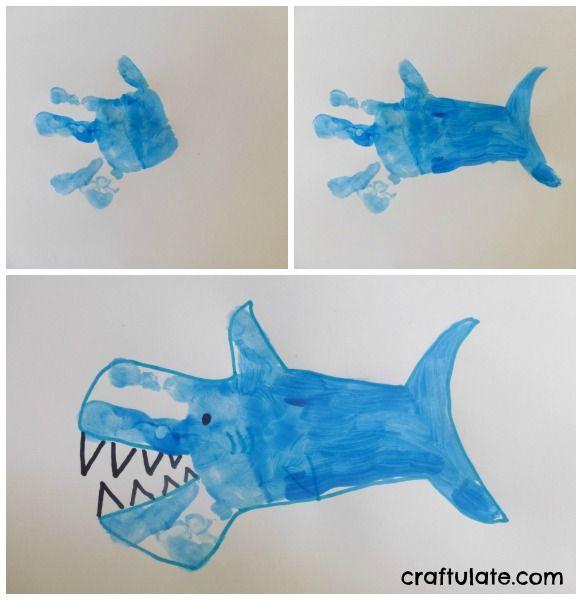 Ocean Theme Activities Kids Fun Arts Crafts Shark Craft