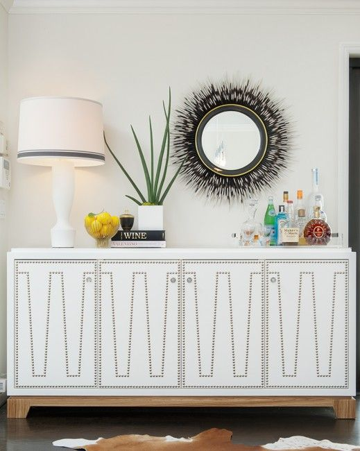 sideboard by Thomas Fetherston, Laura Martin Bovard Interiors installation.