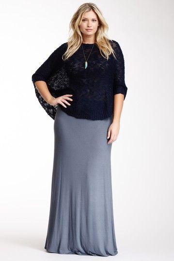 c73eba6f74 Plus Size Solid Maxi Skirt in Dark Gray Grey by Loveappella on  HauteLook  ... Boho style
