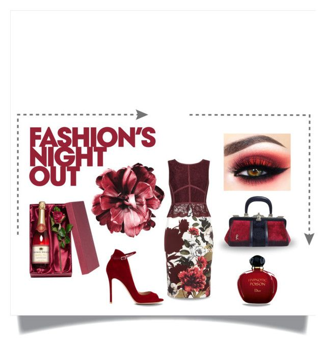 """""""Bottle of Rose"""" by neverboring ❤ liked on Polyvore featuring Fashion's Night Out, Phase Eight, Roberta Di Camerino, Gianvito Rossi and Christian Dior"""