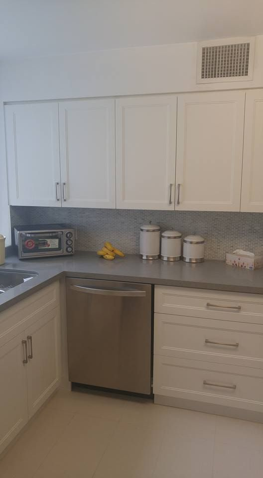 Custom MDF Double Shaker Kitchen With Ceasarstone Quartz Counter Top.  Kitchen Cabinetry ...