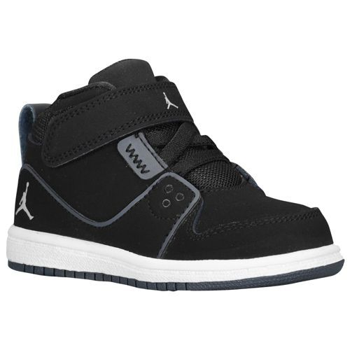 best loved 1771a b386d Jordan 1 Flight 2 - Boys  Toddler - Basketball - Shoes - Black Wolf Grey  Anthracite