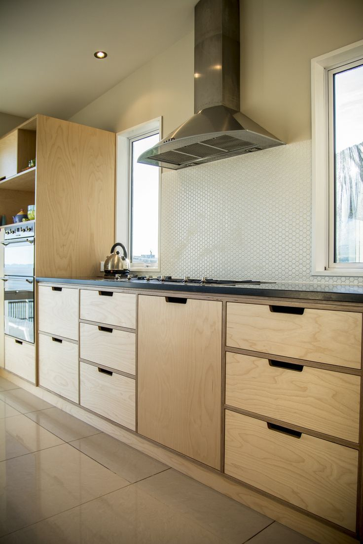 Best Crisp Simple And Modern Plywood Kitchen Oiled Birch 400 x 300