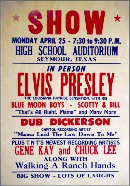 Scotty Moore M B Corral Wichita Falls Tx Concert Posters
