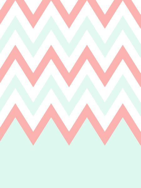 3371482 12001291 Lz 450x600 Mint Coral Chevron Case Phone Wallpapers