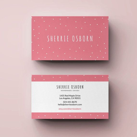 Premade Business Card Template Small Business Card Photography Business Card Crafts Bus Small Business Cards Craft Business Cards Photography Business Cards
