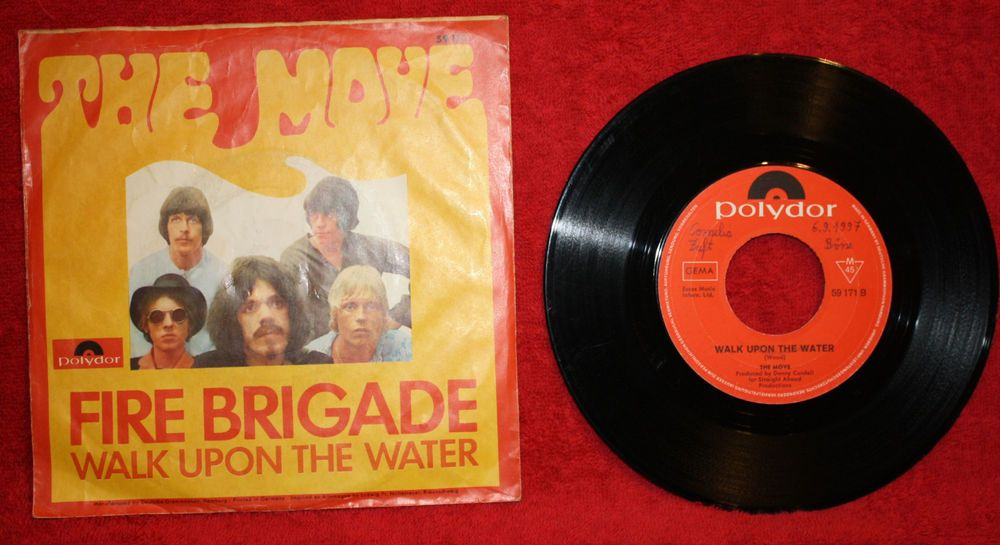 THE MOVE FIRE BRIGADE + WALK UPON THE WATER 7  VINYL