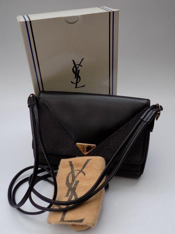 Ysl Yves Saint Laurent Vintage Black Leather By Sophiashop123 Yves Saint Laurent Vintage Elegant Bags Vintage Black