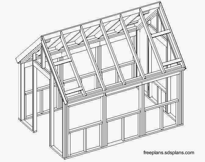 Dibujo Técnico De Una Estructura Para Casa De Madera
