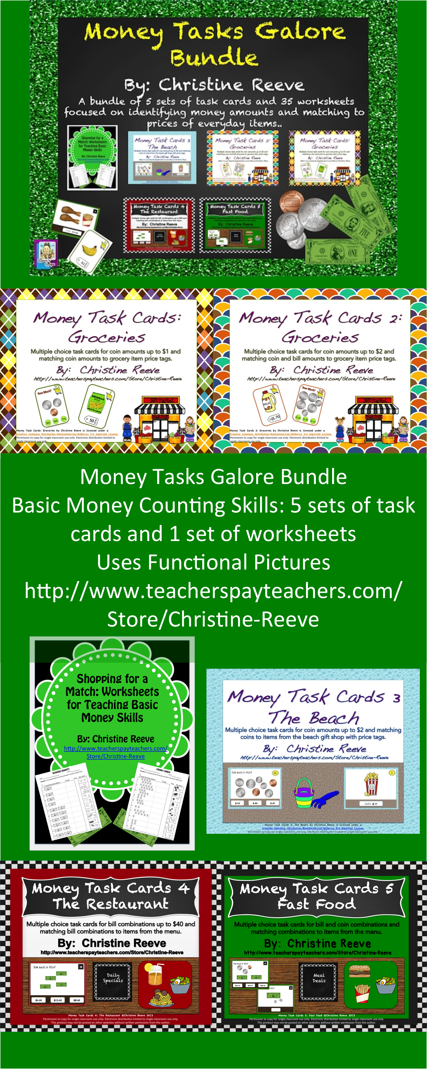 Money Tasks Galore Bundle Early Elem Amp Special Ed Task