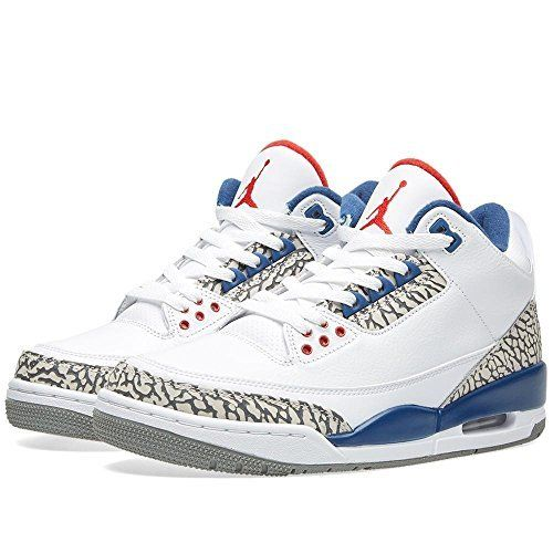 more photos 88003 88e2a Nike Men's Air Jordan 3 Retro OG White/Fire Red-true Blue-cement Grey -  12.5 D(M) US