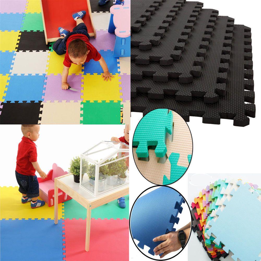 Floor mats interlocking tiles - Eva Foam Floor Mats Interlocking Tiles Gym Play Garage Home Yoga Workshop Puzzle