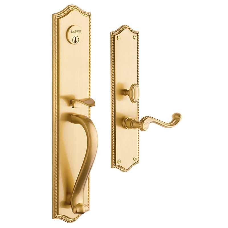Baldwin Bristol Entrance Trim 6963 Keyed Entry From Waybuild Antique Brass Door Handles Door Handles Brass Door Handles