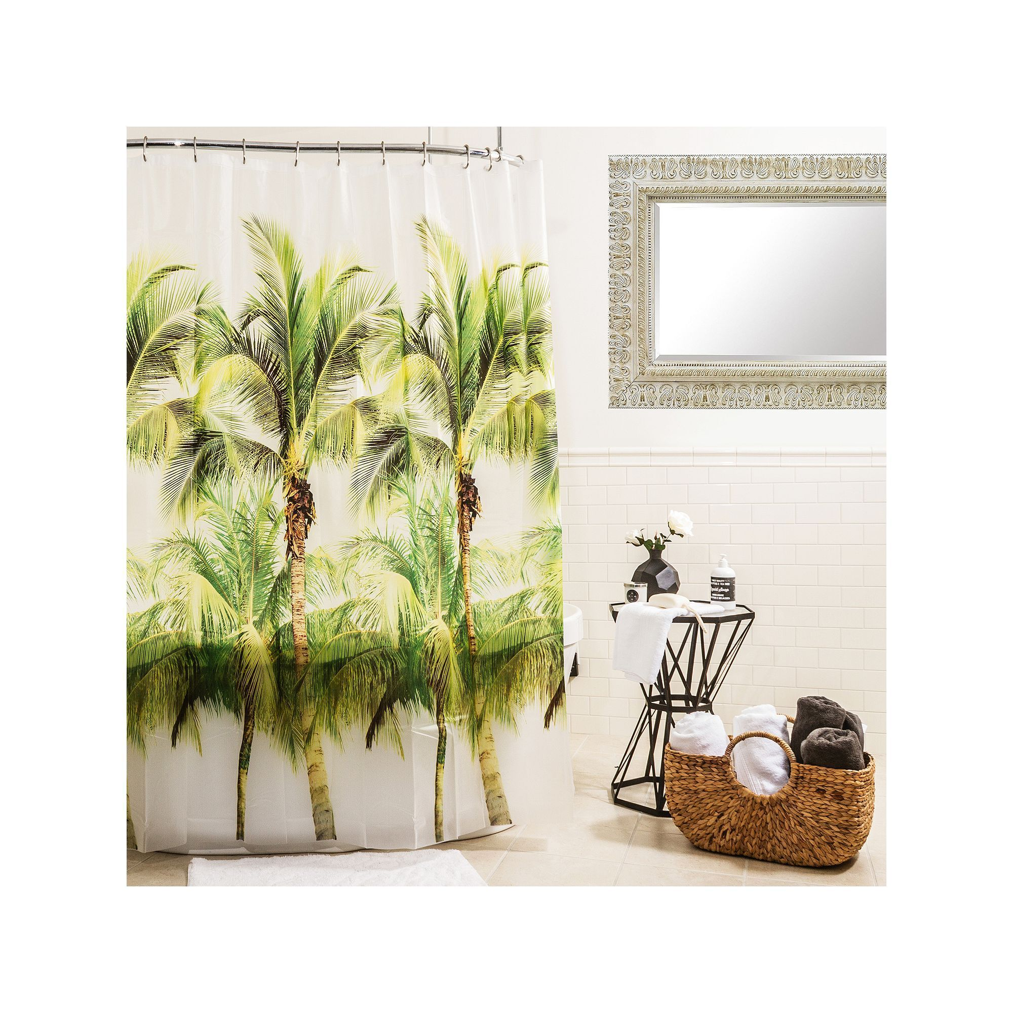 Splash Home Palm Tree Shower Curtain Tree Shower Curtains And Products