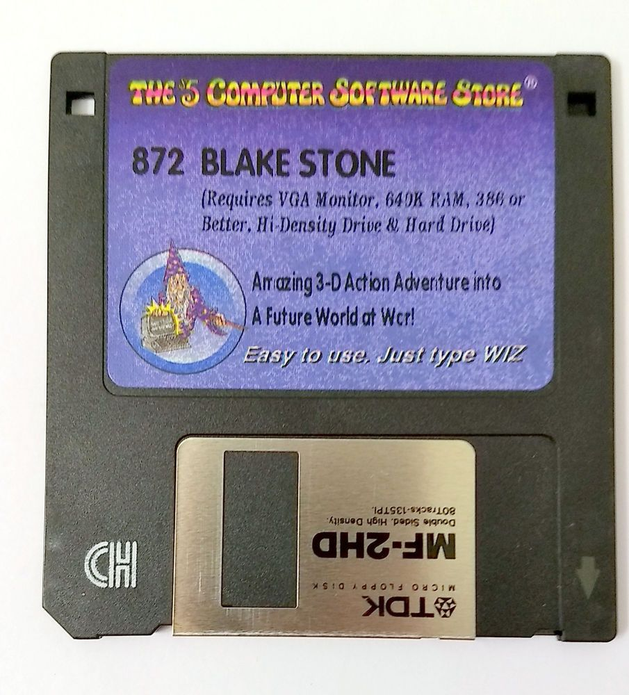 Blake Stone Video Game 3 5 Floppy Disk The 5 Computer Software