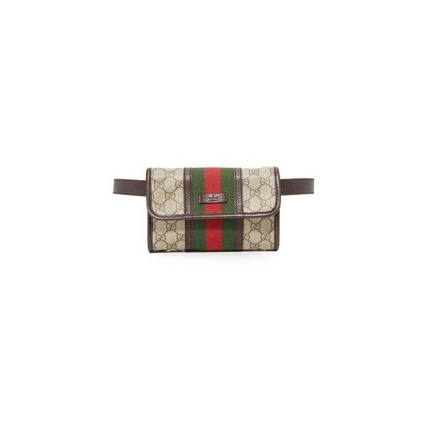 6b341452d659 Pre-owned What Goes Around Comes Around Gucci Canvas Waist Pouch... (