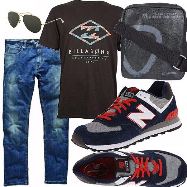Il sabato si sa è fatto per il relax, come questo outfit , per Lui, comodo, moderno, con pezzi basic però forti, come le sneakers americane e gli occhiali da aviatore!!