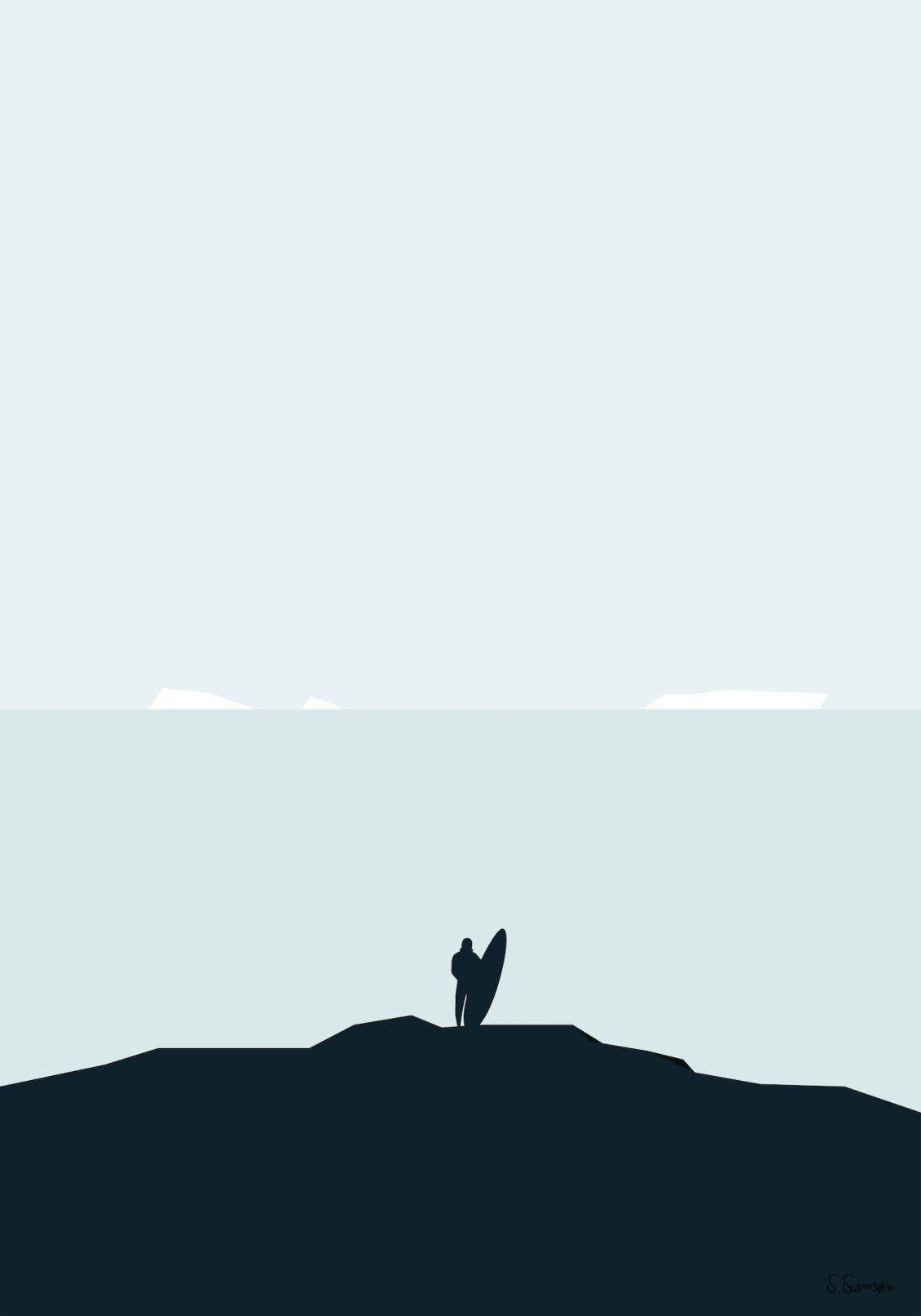 """SURFE I ISEN"" Art Print by Swen Swensøn on Society6 | Society6 thumbnail"