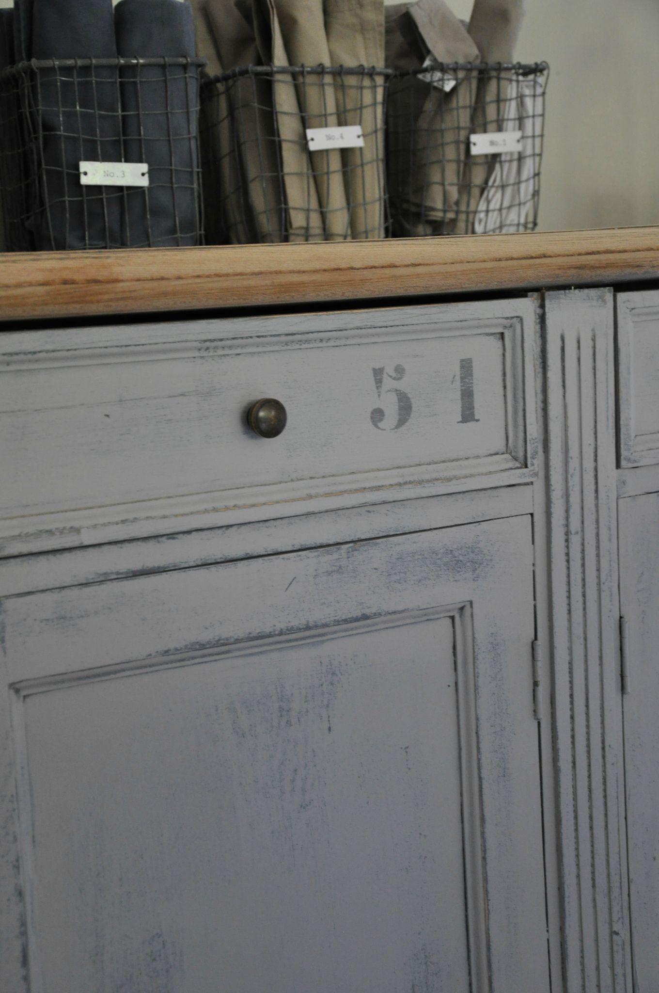 Meuble 006 Maisons D Co Pinterest Meubles Bricolage Et Patine # Peindre Un Vaisselier En Gris