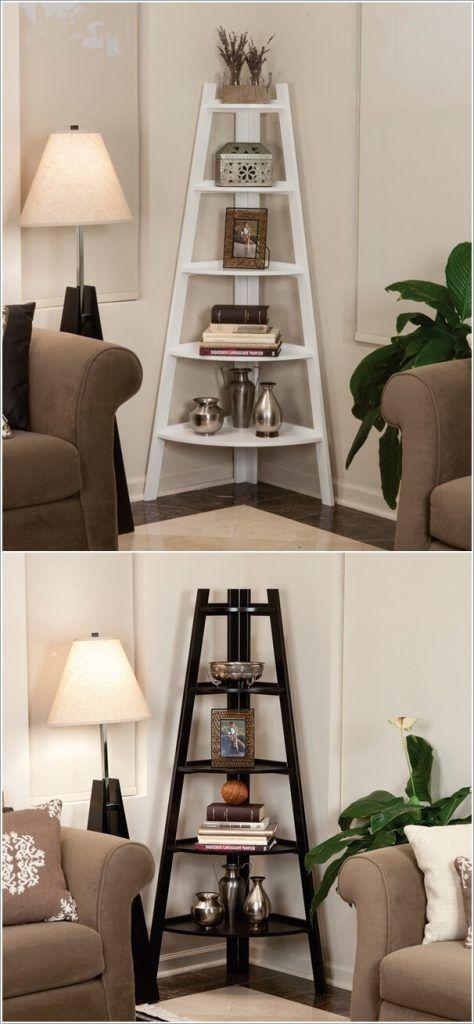 10 kreative und clevere Deko-Ideen für die Ecken in Ihrem Wohnzimmer