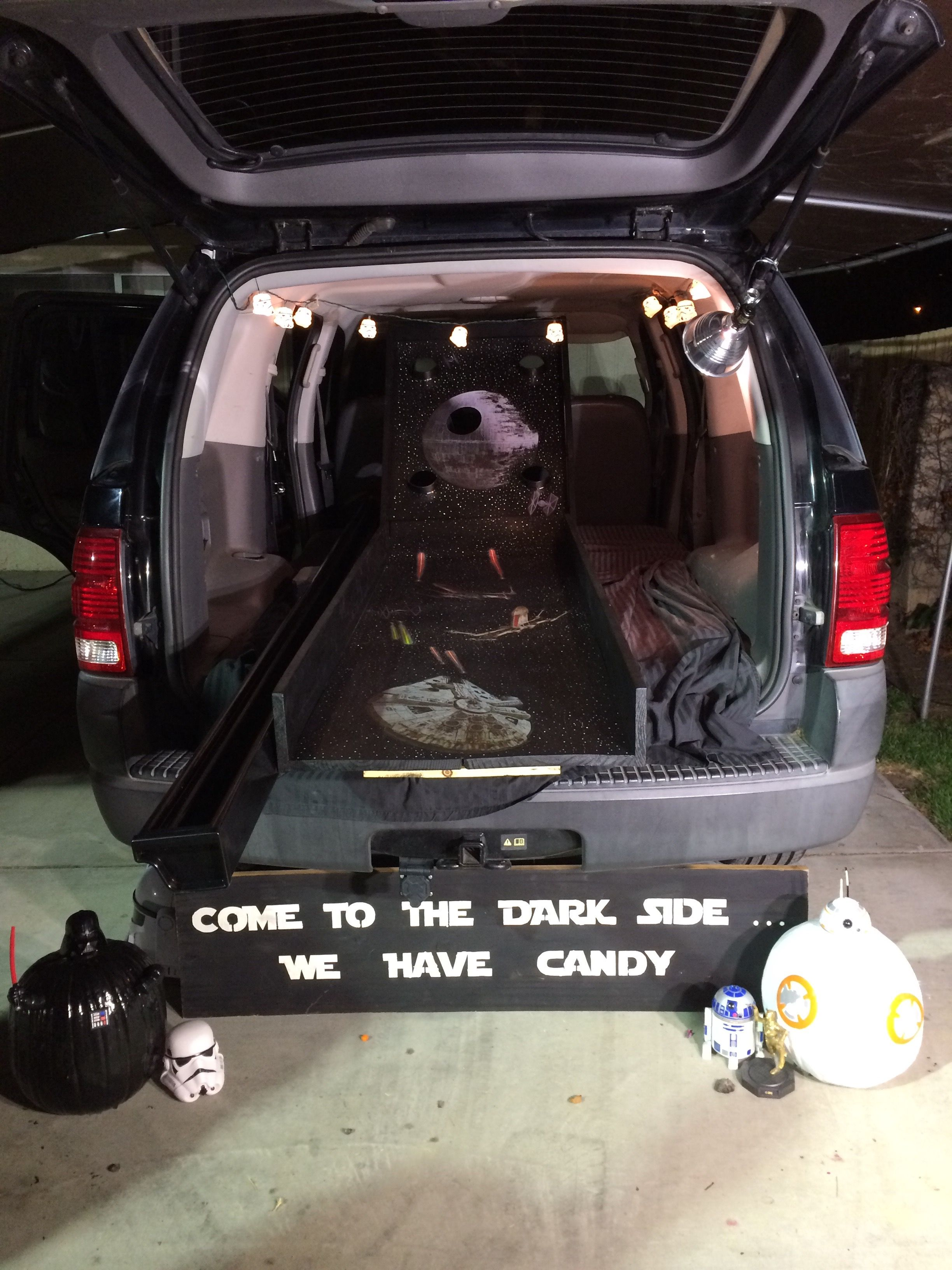 Star Wars Trunk Or Treat Skee Ball Trunk Or Treat Ideas Trunk Or