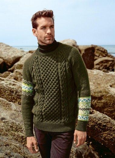 Mag. 177 #02 Jacquard cable sweater   Buy, yarn, buy yarn online ...
