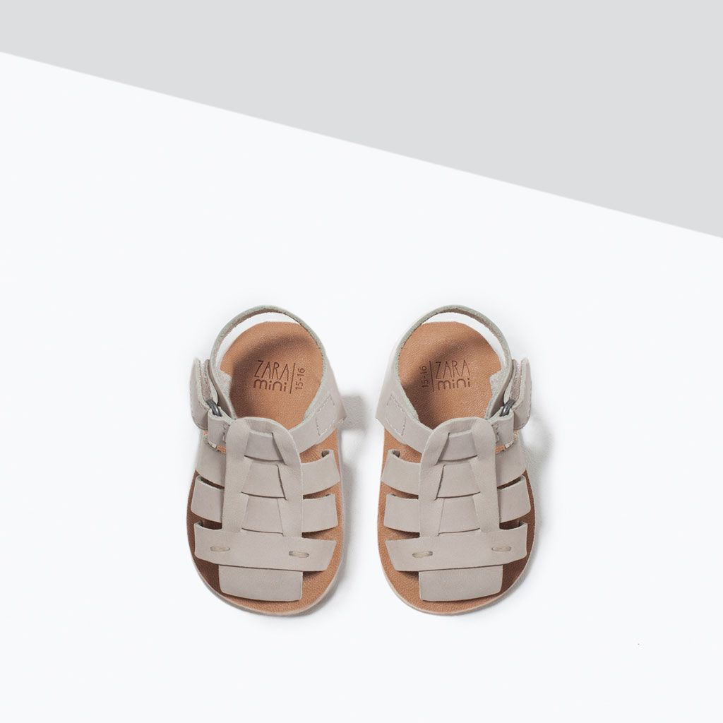 BUCKLE DETAIL LEATHER SANDALS-Shoes