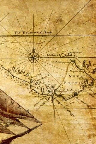 Old Map Illustration iPhone 6 Wallpaper | Worldly Wallpaper! | Map ...