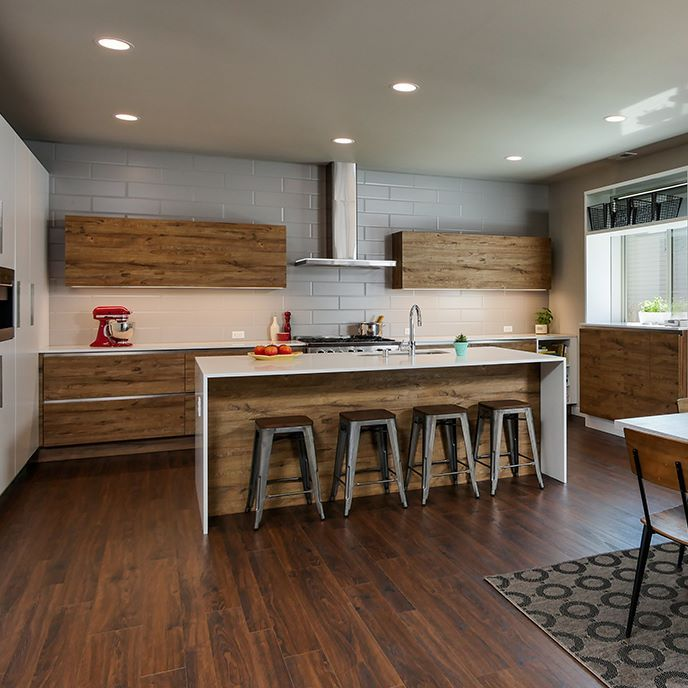 The Latest Trends In Cabinets Mix It Up | Modern kitchen ...