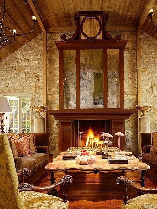 Find this home on Rustic living room