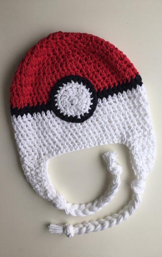 Pokémon hat, poké ball hat, kids hat, crochet poke ball hat, crochet ...