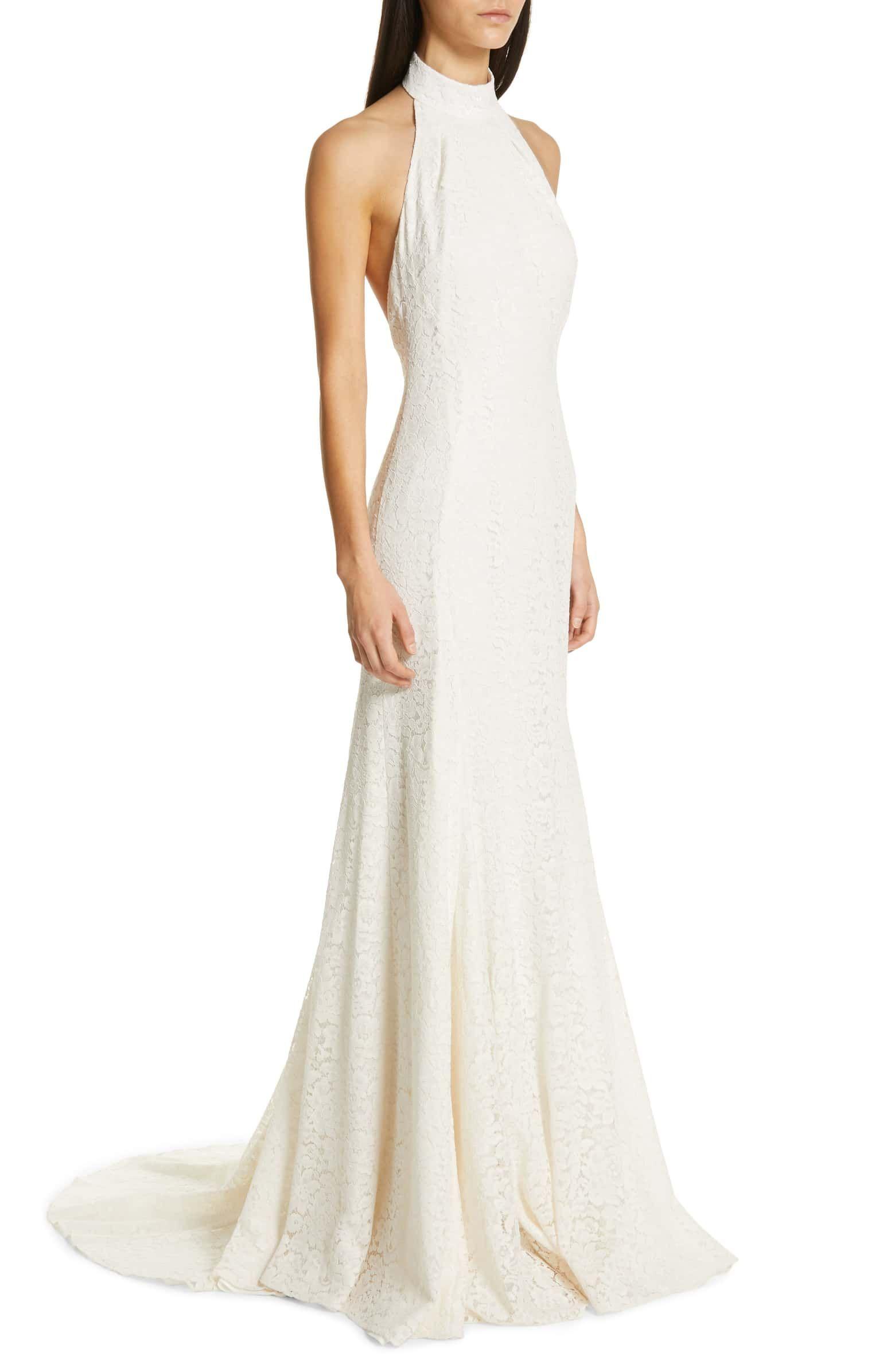 Magnolia Halter Lace Trumpet Gown Alternate Color Ivory Dresses Wedding Dresses Nordstrom Dresses